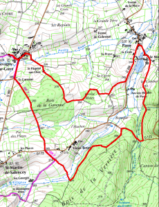 Randonnée 9 km autour de Chevagny